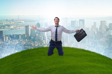 Photo for Businessman excited with new business opportunity - Royalty Free Image