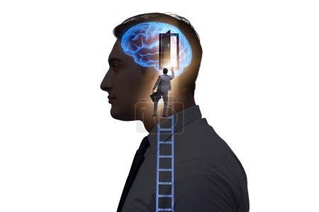Photo pour Homme d'affaires ouvrant la porte à l'intelligence artificielle - image libre de droit