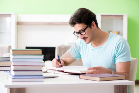 Photo for Student preparing for university exams at home - Royalty Free Image