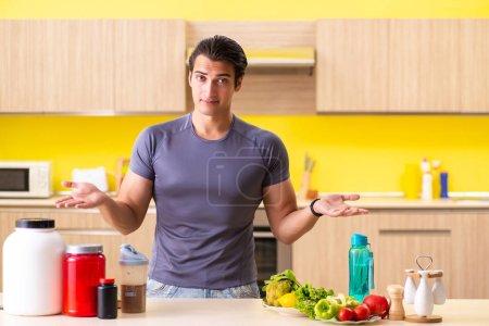 Junger Mann in gesundem Ernährungskonzept