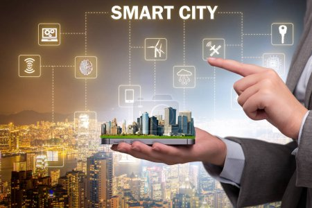 Photo for Smart city in innovation concept - Royalty Free Image