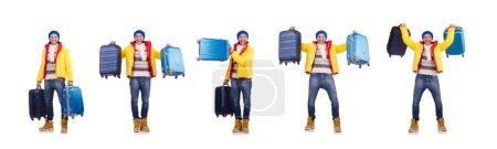 Photo pour Homme se préparant pour les vacances d'hiver - image libre de droit