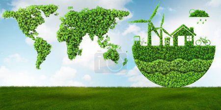 Ecological concept of clean energy - 3d rendering