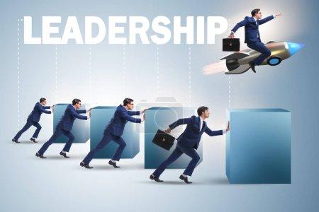 Photo pour Concept de leadership avec différents hommes d'affaires - image libre de droit