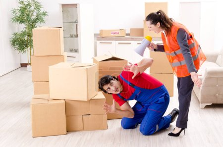 Photo for Professional movers doing home relocation - Royalty Free Image