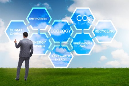 Foto de Empresario en concepto de Ecología y medio ambiente - Imagen libre de derechos