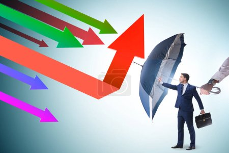 Photo for Recovery concept with the businessman and charts - Royalty Free Image