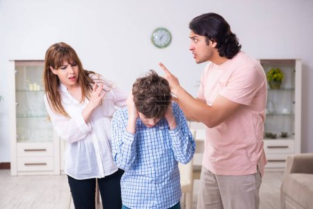 Photo for The family conflict with husband and wife and child - Royalty Free Image