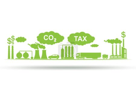 Photo for Carbon tax concept with the industrial plant - Royalty Free Image