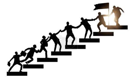 Photo pour Concept de mentorat et de soutien dans l'entreprise - image libre de droit