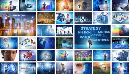 Foto de El collage de varios conceptos de negocio - Imagen libre de derechos