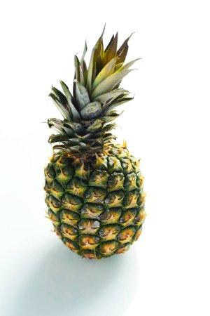 Photo for Whole pineapple fruit isolated on white background - Royalty Free Image