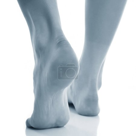 Photo for View of tired female legs - Royalty Free Image