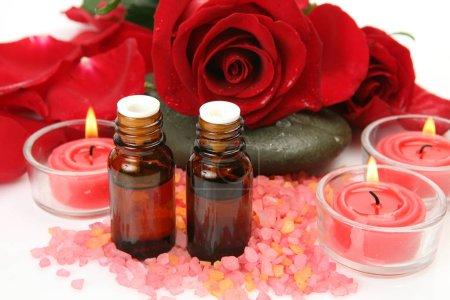 Photo pour Éléments pour une aromathérapie et spa - image libre de droit