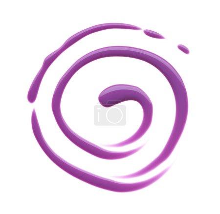 Foto de Textura del esmalte de uñas color de ligeramente púrpura o rosa aislado sobre fondo blanco. Frotis de uñas ligeramente púrpura o rosado color aislado en blanco - Imagen libre de derechos