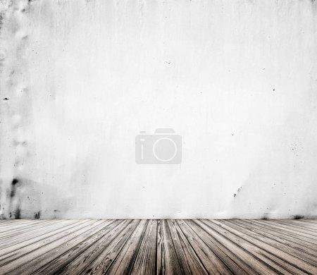 Photo pour Texture intérieure papier peint. Chambre vide rendu 3d - image libre de droit