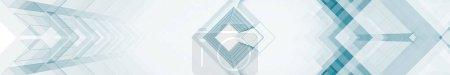Photo pour Fond horizontal contemporain en verre bleu. Rendu 3d - image libre de droit