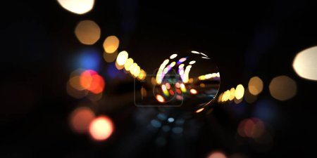 Bokeh motion abstract 3d rendering