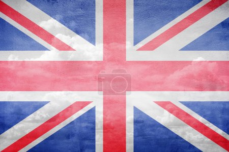 Photo pour Illustration de ciel vintage drapeau United Kingdom - image libre de droit