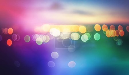 Photo for Blur bokeh lights effects background - Royalty Free Image