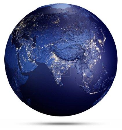 Photo pour Planète terre sur blanc. Éléments de cette image fournie par la Nasa. rendu 3D - image libre de droit