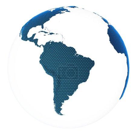 Photo pour Monde concept planète. Éléments de cette image fournie par la Nasa. rendu 3D - image libre de droit