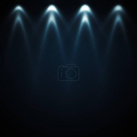 Photo pour Projecteurs photométriques. Surface texturée en métal. Soirée spectacle illuminée. Rendu 3d - image libre de droit