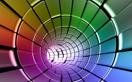 Rainbow colors technology background