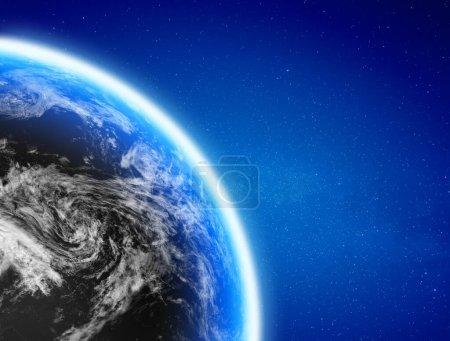 Photo pour Planète Terre monde. Éléments de cette image fournis par la NASA. Rendu 3d - image libre de droit
