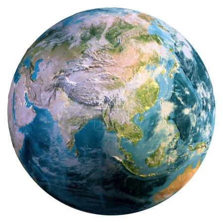 Photo pour Planète Terre isolée. Éléments de cette image fournis par la NASA. Rendu 3d - image libre de droit