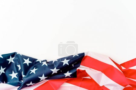 Developing in wind flag of America