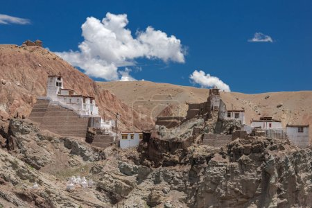 Basgo Gompa is an ancient fortress and Buddhist Monastery in Bazgo valley in Leh district, Ladakh, Jammu and Kashmir, Northern India.