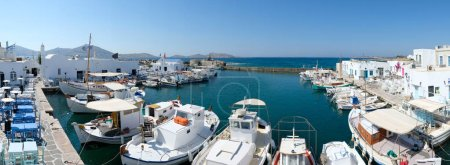 party boats in Naoussa port, Paros island, Cyclades, Greece