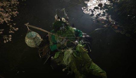 Photo pour Fantastique image de Poséidon. Beaux-arts Fairy Tale Photography. Photo de haute qualité. - image libre de droit