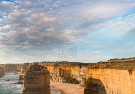 Stunning sunset view of Twelve Apostles, Australia.