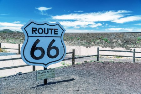 Historic Route 66 sign, USA.