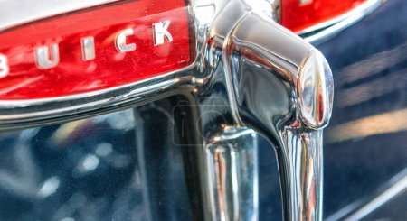 ANTWERPEN, BELGIUM - MAY 3, 2015: Buick modern car detail. Buick is currently the oldest North American auto maker.