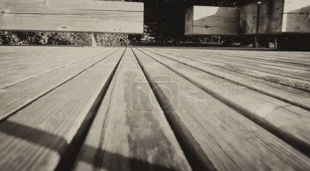 Wooden Pier detail, black and white