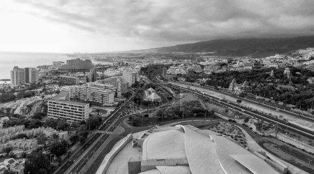 Tenerife aerial view near Playa de Las Americas.