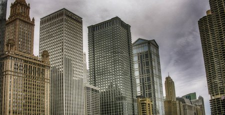 Photo for Chicago buildings and skyline in summer season. - Royalty Free Image
