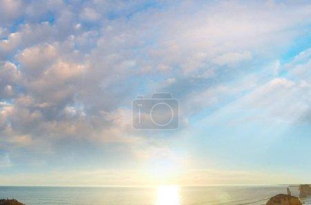 Amazing sunset scenario of Great Ocean Road - Australia.