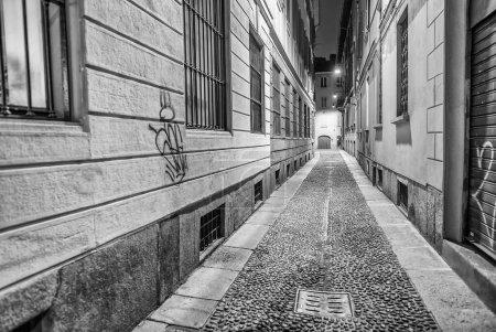 Photo for Ancient narrow street of Milan, Italy. - Royalty Free Image
