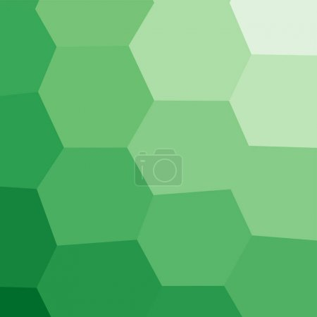 Illustration for Green geometric polygonal textured background - Royalty Free Image