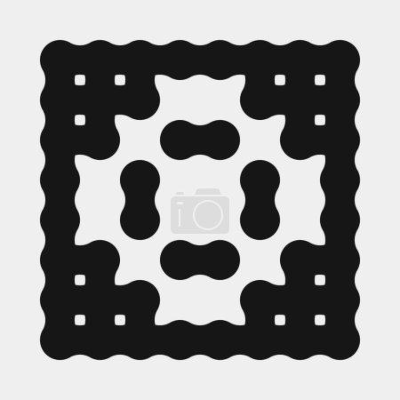 Foto de Abstracto cruz patrón puntos logotipo generativo ilustración de arte computacional - Imagen libre de derechos