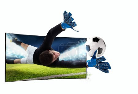 Realism of sporting images broadcast on tv
