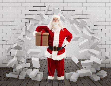 Photo for Christmas is coming. Santa Claus struggling with deliveries - Royalty Free Image