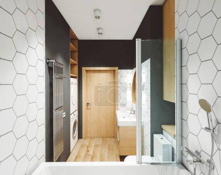 Photo pour Intérieur d'une salle de bain  . - image libre de droit