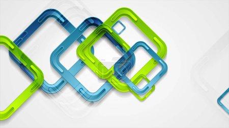 Photo pour Places bleues et vertes animées abstrait numérique - image libre de droit