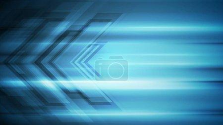 Photo pour Flèches tech bleu abstrait fond moderne - image libre de droit