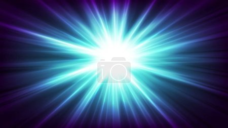 Photo for Blue glowing shiny beams abstract background - Royalty Free Image